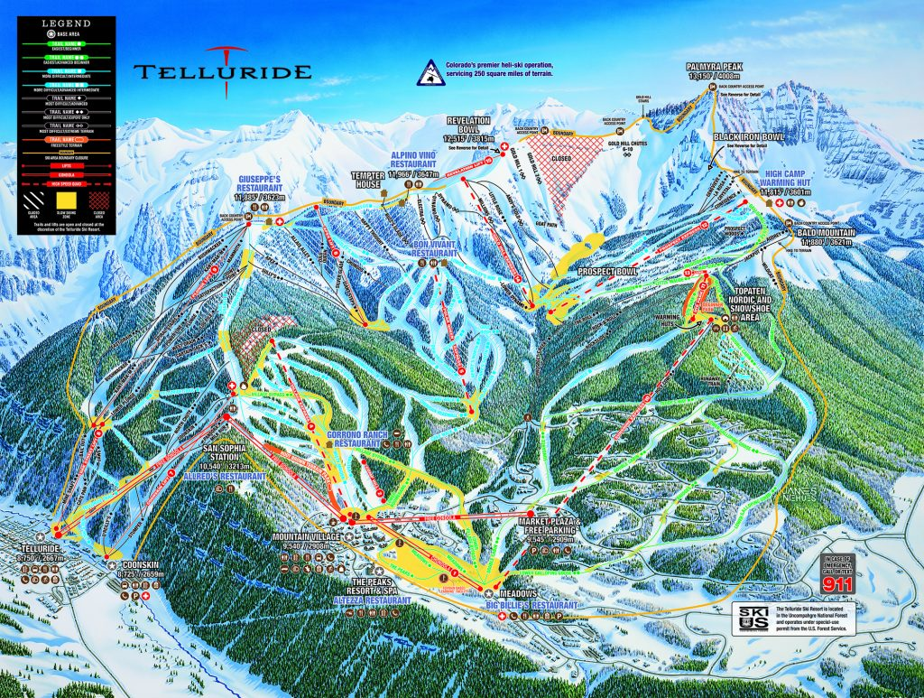 Telluride Main Trail Map