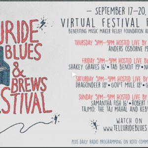 Blues & Brews virtual schedule